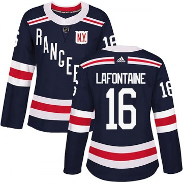 Adidas New York Rangers Women's Pat Lafontaine Authentic Navy Blue 2018 Winter Classic Home NHL Jersey