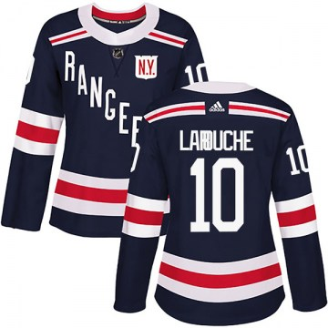 Adidas New York Rangers Women's Pierre Larouche Authentic Navy Blue 2018 Winter Classic Home NHL Jersey