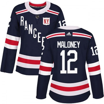 Adidas New York Rangers Women's Don Maloney Authentic Navy Blue 2018 Winter Classic Home NHL Jersey