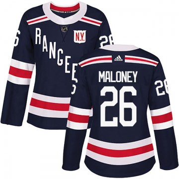 Adidas New York Rangers Women's Dave Maloney Authentic Navy Blue 2018 Winter Classic Home NHL Jersey
