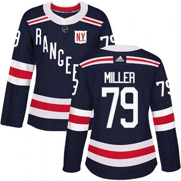 Adidas New York Rangers Women's KAndre Miller Authentic Navy Blue 2018 Winter Classic Home NHL Jersey