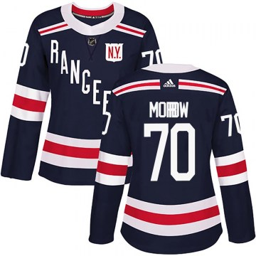 Adidas New York Rangers Women's Joe Morrow Authentic Navy Blue 2018 Winter Classic Home NHL Jersey