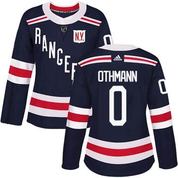 Adidas New York Rangers Women's Brennan Othmann Authentic Navy Blue 2018 Winter Classic Home NHL Jersey