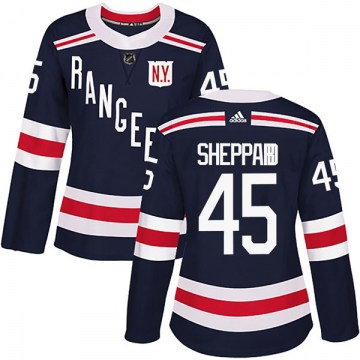 Adidas New York Rangers Women's James Sheppard Authentic Navy Blue 2018 Winter Classic Home NHL Jersey