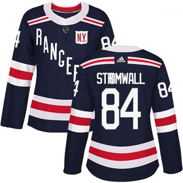 Adidas New York Rangers Women's Malte Stromwall Authentic Navy Blue 2018 Winter Classic Home NHL Jersey