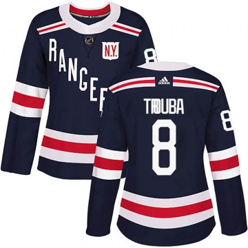 Adidas New York Rangers Women's Jacob Trouba Authentic Navy Blue 2018 Winter Classic Home NHL Jersey