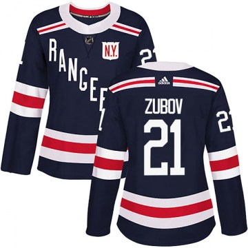 Adidas New York Rangers Women's Sergei Zubov Authentic Navy Blue 2018 Winter Classic Home NHL Jersey