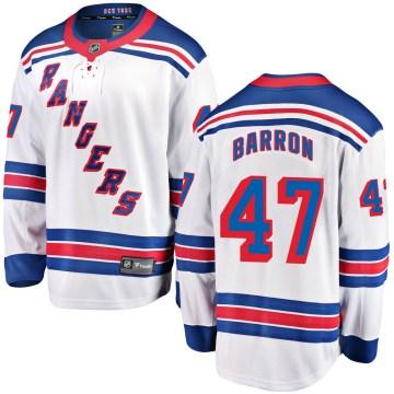 Fanatics Branded New York Rangers Youth Morgan Barron Breakaway White Away NHL Jersey