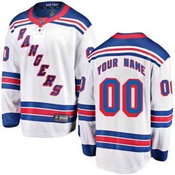 Fanatics Branded New York Rangers Youth Custom Breakaway White Away NHL Jersey
