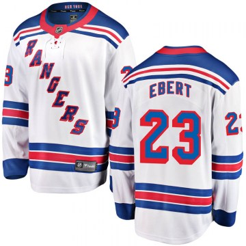 Fanatics Branded New York Rangers Youth Nick Ebert Breakaway White Away NHL Jersey