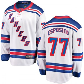 Fanatics Branded New York Rangers Youth Phil Esposito Breakaway White Away NHL Jersey