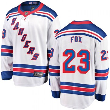 Fanatics Branded New York Rangers Youth Adam Fox Breakaway White Away NHL Jersey
