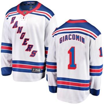 Fanatics Branded New York Rangers Youth Eddie Giacomin Breakaway White Away NHL Jersey