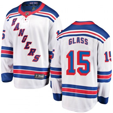 Fanatics Branded New York Rangers Youth Tanner Glass Breakaway White Away NHL Jersey