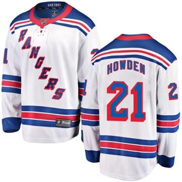 Fanatics Branded New York Rangers Youth Brett Howden Breakaway White Away NHL Jersey