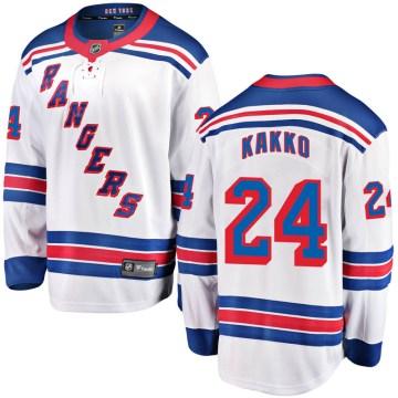 Fanatics Branded New York Rangers Youth Kaapo Kakko Breakaway White Away NHL Jersey