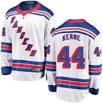 Fanatics Branded New York Rangers Youth Joey Keane Breakaway White Away NHL Jersey