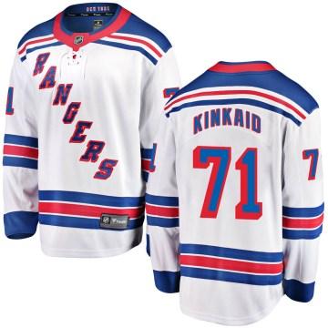 Fanatics Branded New York Rangers Youth Keith Kinkaid Breakaway White Away NHL Jersey