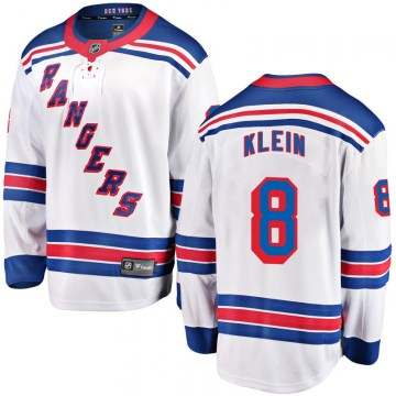 Fanatics Branded New York Rangers Youth Kevin Klein Breakaway White Away NHL Jersey