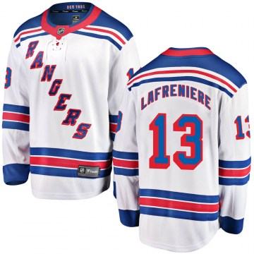 Fanatics Branded New York Rangers Youth Alexis Lafreniere Breakaway White Away NHL Jersey