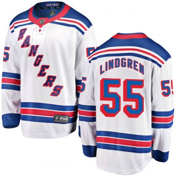 Fanatics Branded New York Rangers Youth Ryan Lindgren Breakaway White Away NHL Jersey