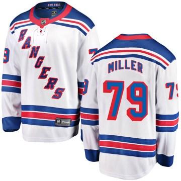 Fanatics Branded New York Rangers Youth KAndre Miller Breakaway White Away NHL Jersey