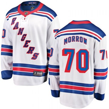 Fanatics Branded New York Rangers Youth Joe Morrow Breakaway White Away NHL Jersey