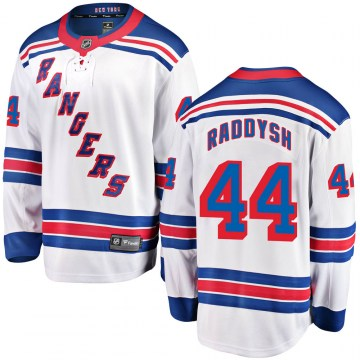 Fanatics Branded New York Rangers Youth Darren Raddysh Breakaway White ized Away NHL Jersey