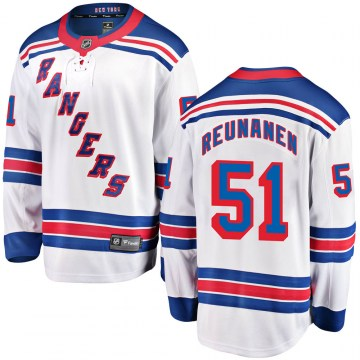 Fanatics Branded New York Rangers Youth Tarmo Reunanen Breakaway White Away NHL Jersey