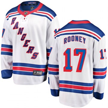 Fanatics Branded New York Rangers Youth Kevin Rooney Breakaway White Away NHL Jersey