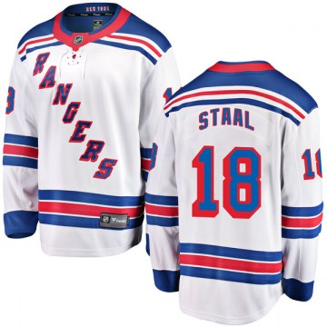 Fanatics Branded New York Rangers Youth Marc Staal Breakaway White Away NHL Jersey