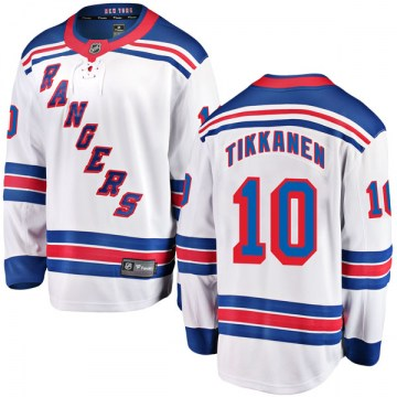 Fanatics Branded New York Rangers Youth Esa Tikkanen Breakaway White Away NHL Jersey