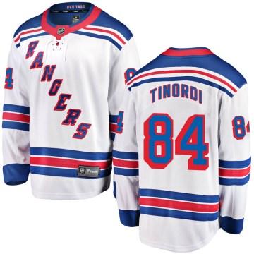 Fanatics Branded New York Rangers Youth Jarred Tinordi Breakaway White Away NHL Jersey