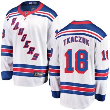 Fanatics Branded New York Rangers Youth Walt Tkaczuk Breakaway White Away NHL Jersey