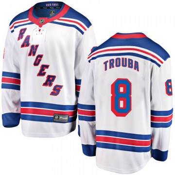 Fanatics Branded New York Rangers Youth Jacob Trouba Breakaway White Away NHL Jersey