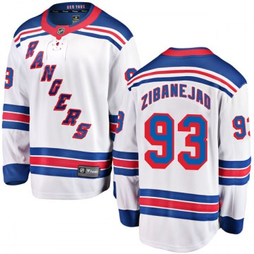 Fanatics Branded New York Rangers Youth Mika Zibanejad Breakaway White Away NHL Jersey
