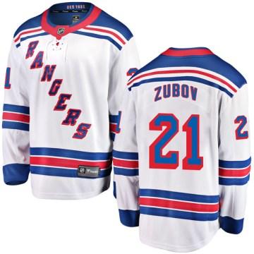Fanatics Branded New York Rangers Youth Sergei Zubov Breakaway White Away NHL Jersey