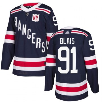 Adidas New York Rangers Youth Sammy Blais Authentic Navy Blue 2018 Winter Classic Home NHL Jersey