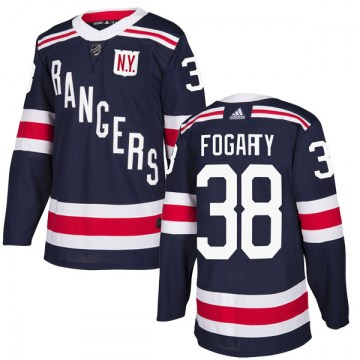 Adidas New York Rangers Youth Steven Fogarty Authentic Navy Blue 2018 Winter Classic Home NHL Jersey