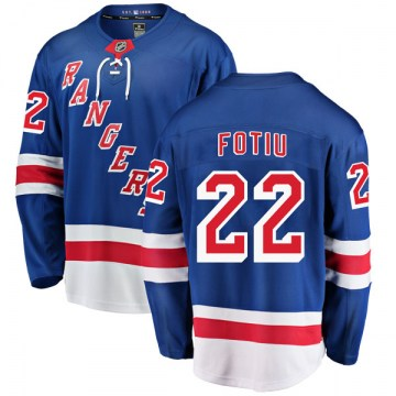 Fanatics Branded New York Rangers Youth Nick Fotiu Breakaway Blue Home NHL Jersey