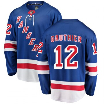 Fanatics Branded New York Rangers Youth Julien Gauthier Breakaway Blue ized Home NHL Jersey