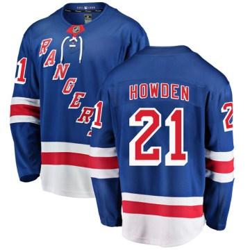Fanatics Branded New York Rangers Youth Brett Howden Breakaway Blue Home NHL Jersey