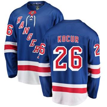 Fanatics Branded New York Rangers Youth Joey Kocur Breakaway Blue Home NHL Jersey