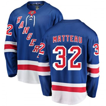 Fanatics Branded New York Rangers Youth Stephane Matteau Breakaway Blue Home NHL Jersey