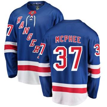 Fanatics Branded New York Rangers Youth George Mcphee Breakaway Blue Home NHL Jersey