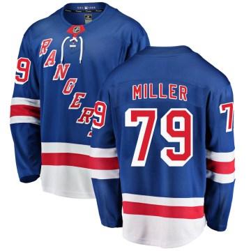 Fanatics Branded New York Rangers Youth KAndre Miller Breakaway Blue Home NHL Jersey