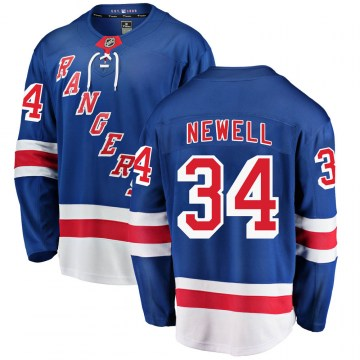 Fanatics Branded New York Rangers Youth Patrick Newell Breakaway Blue Home NHL Jersey