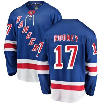 Fanatics Branded New York Rangers Youth Kevin Rooney Breakaway Blue Home NHL Jersey