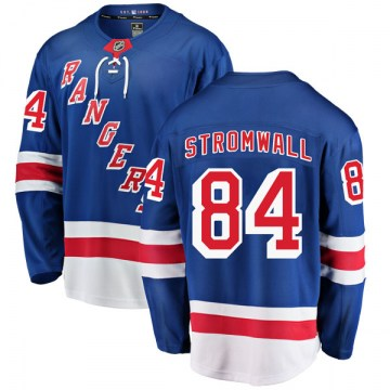 Fanatics Branded New York Rangers Youth Malte Stromwall Breakaway Blue Home NHL Jersey