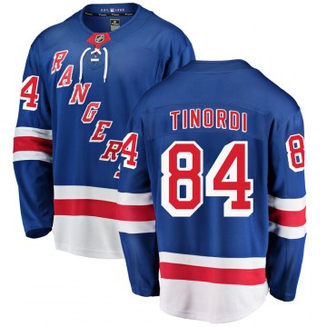 Fanatics Branded New York Rangers Youth Jarred Tinordi Breakaway Blue Home NHL Jersey